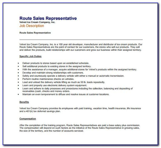 Sales Job Resume Examples