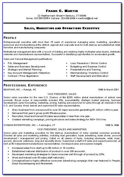 Sales Manager Resume Sample Canada