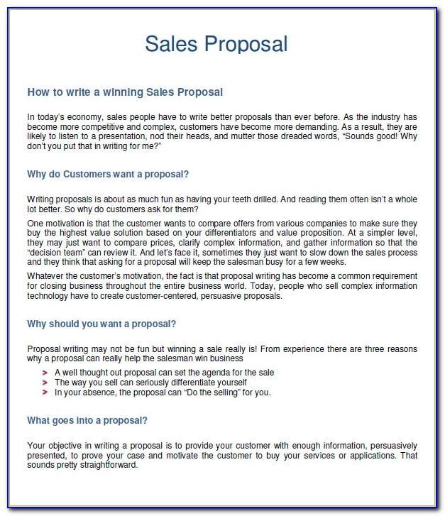 Sales Plan Letter Sample