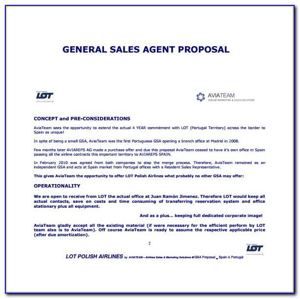 Sales Proposal Document Template