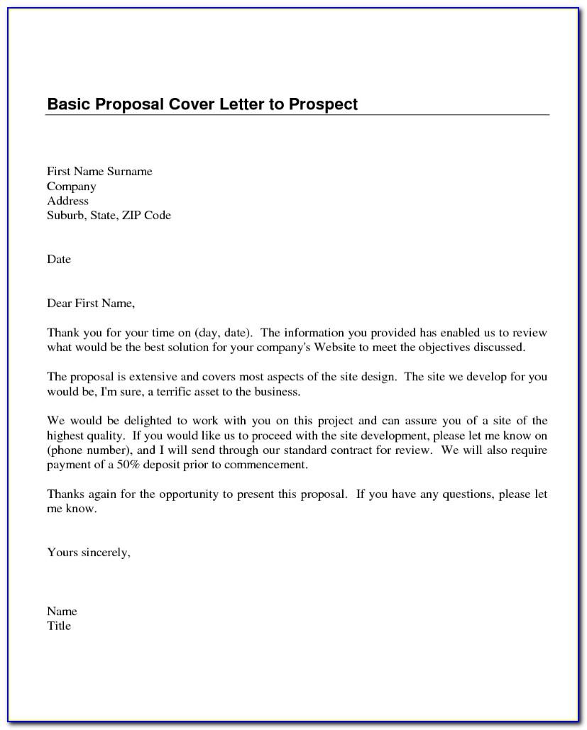 Sales Proposal Letter Template Free