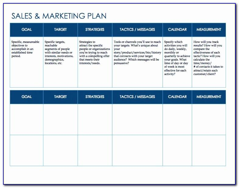 Sales Prospecting Plan Template