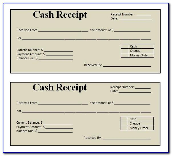 Sales Receipt Excel Template For Free