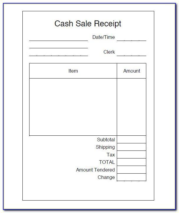 Sales Receipt Format In Excel