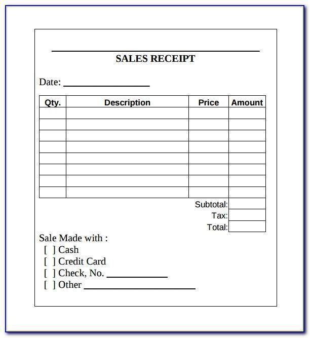 Sales Receipt Template Pdf Free