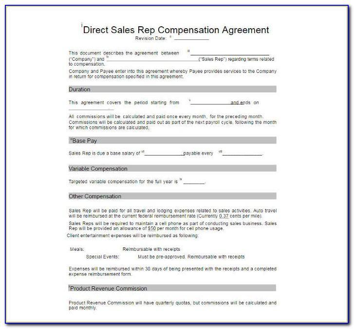 Sales Representative Compensation Plan Examples