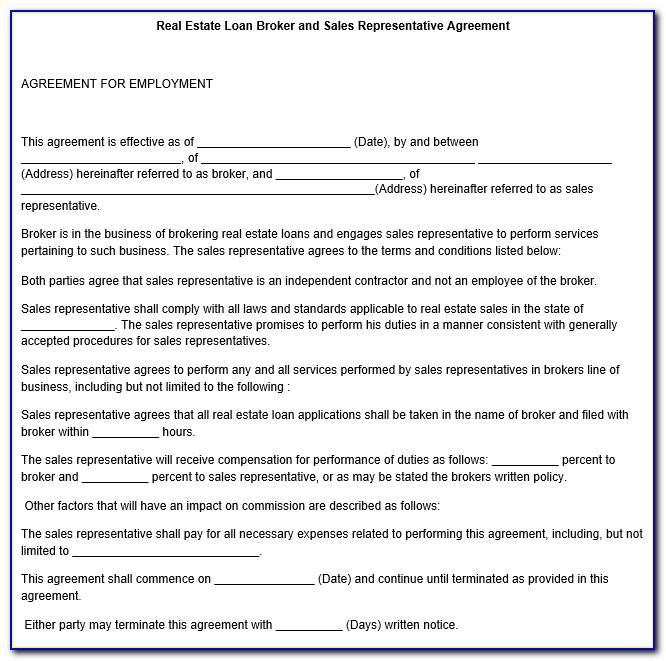 Sales Representative Contract Forms