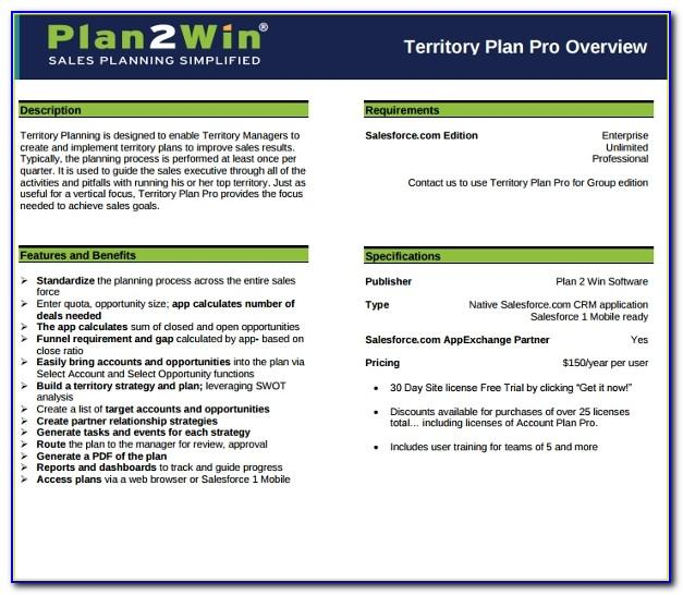 Sales Territory Plan Sample