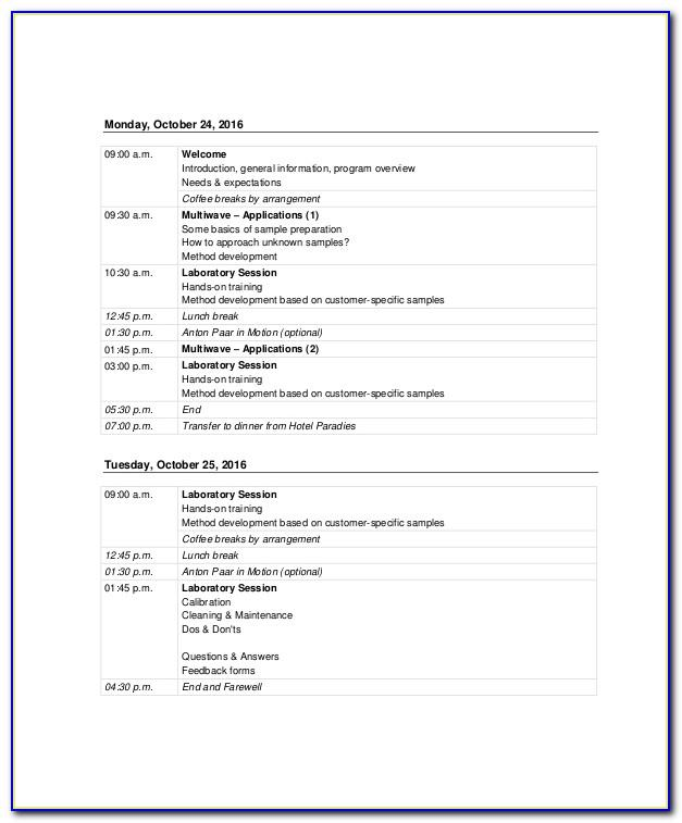 Sales Training Agenda Template