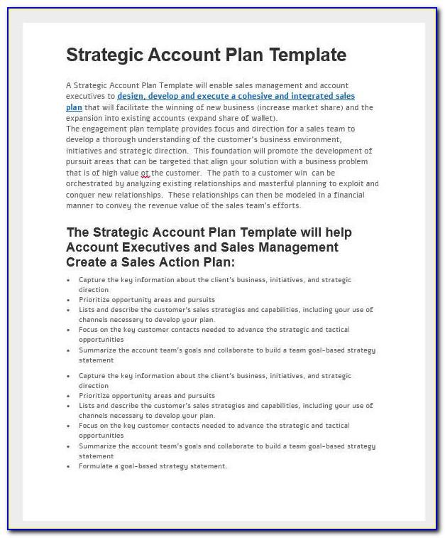 Sales Transition Plan Template