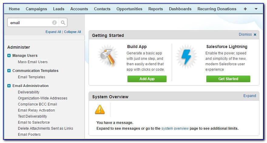 Salesforce Edit Email Templates Lightning