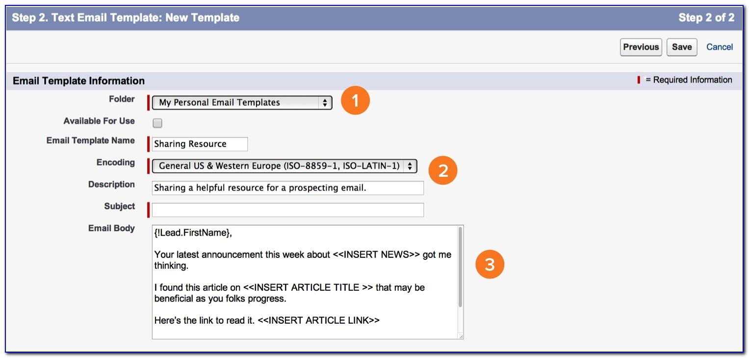 Salesforce Email Template Formula Field