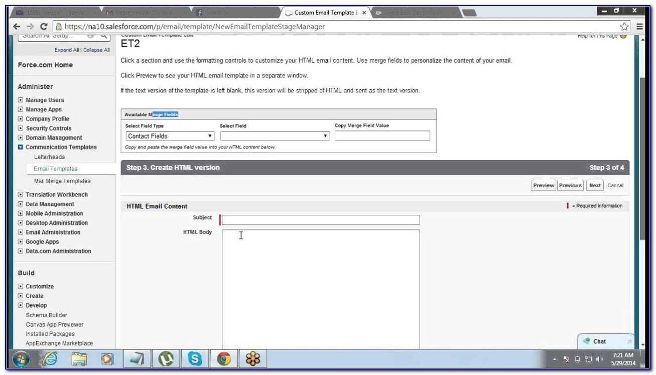 Salesforce Email Template Lightning