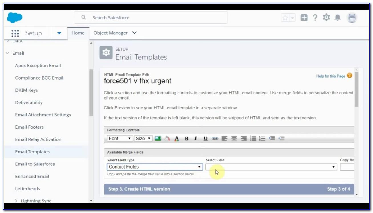 Salesforce Email Templates Lightning