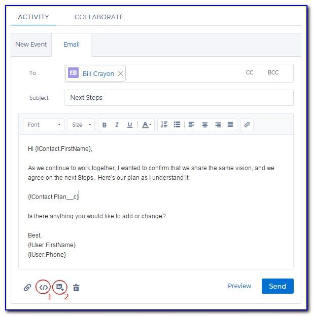 Salesforce Lightning Email Templates Merge Fields