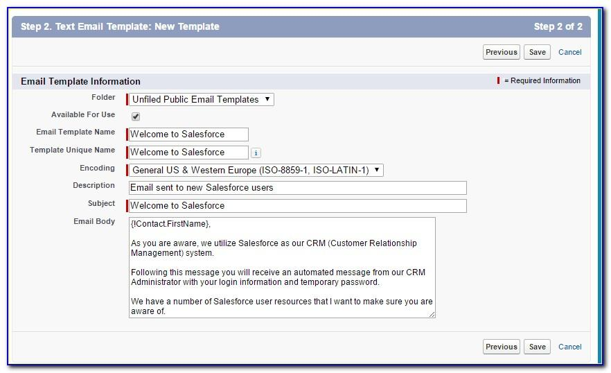 Salesforce Send Email Template Apex