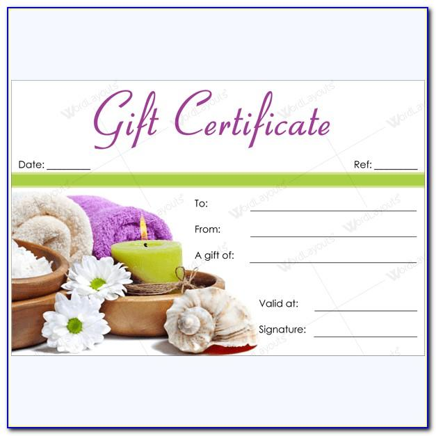 Salon Gift Certificate Template Free Download