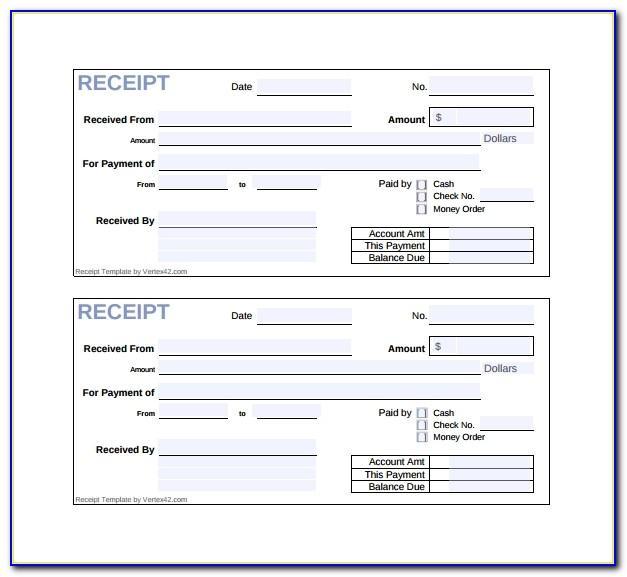 Sample Bill Format Excel