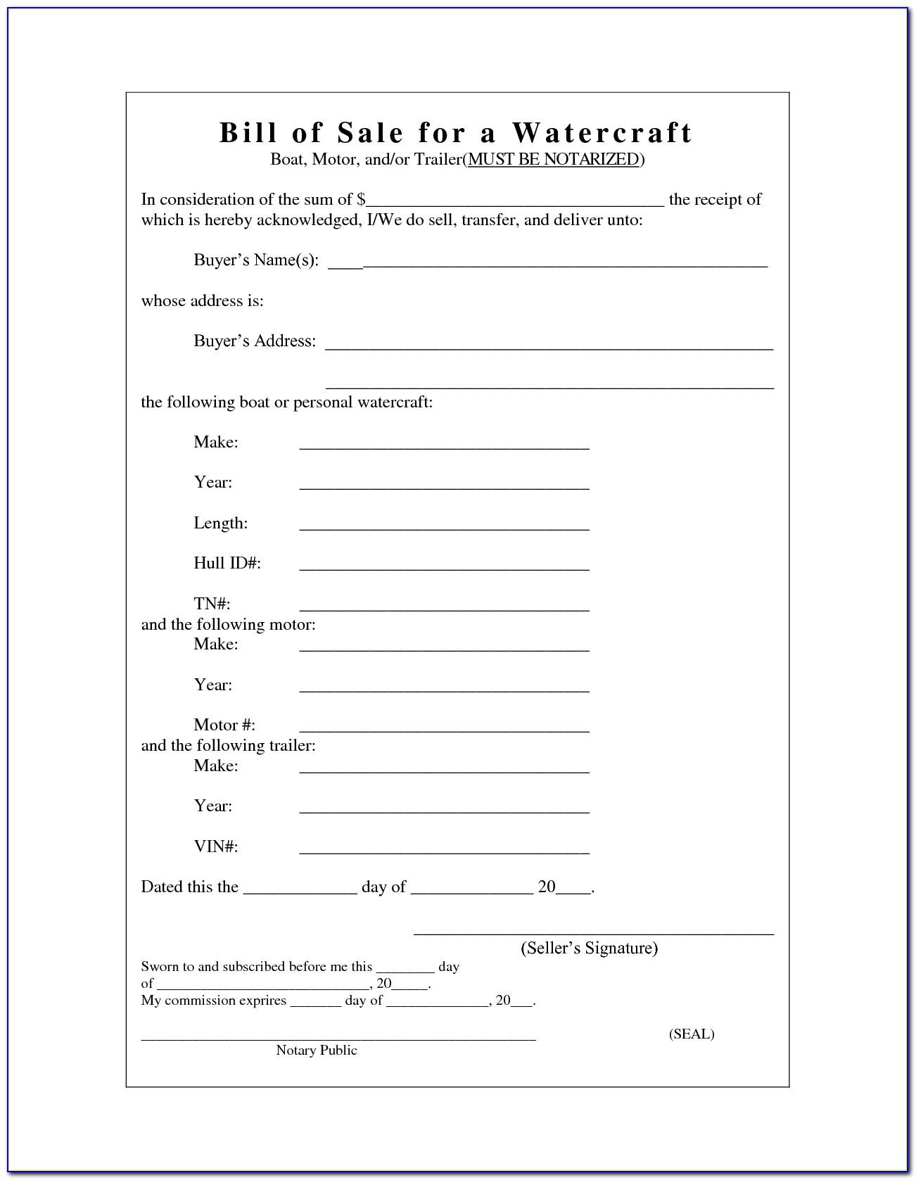 Sample Billing Invoice Form