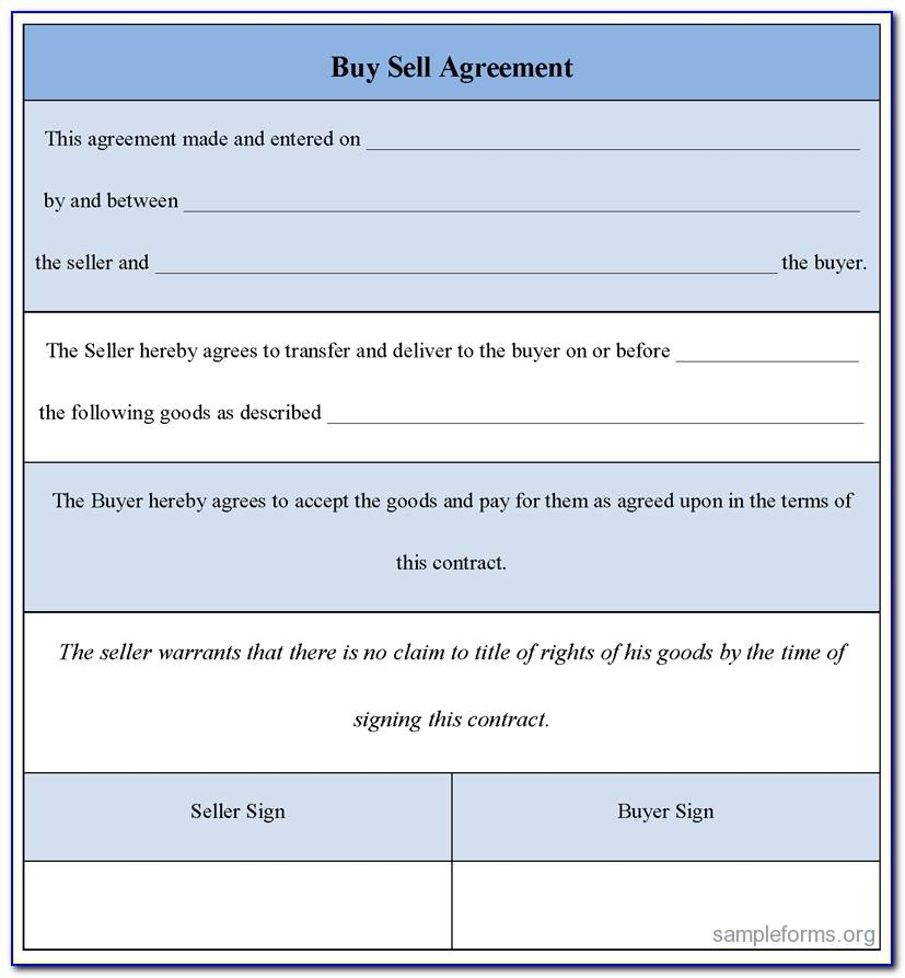 Sample Buy Sell Agreement Form