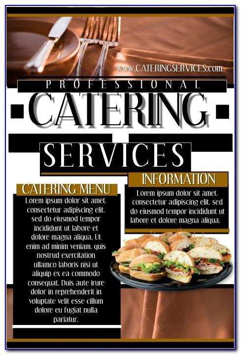 Sample Catering Menu Templates