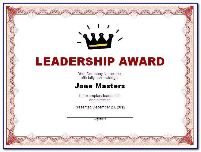 Sample Certificate Basketball Awards