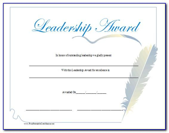 Sample Certificate For Awarding