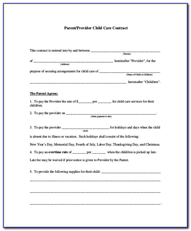 Sample Child Custody Agreement California
