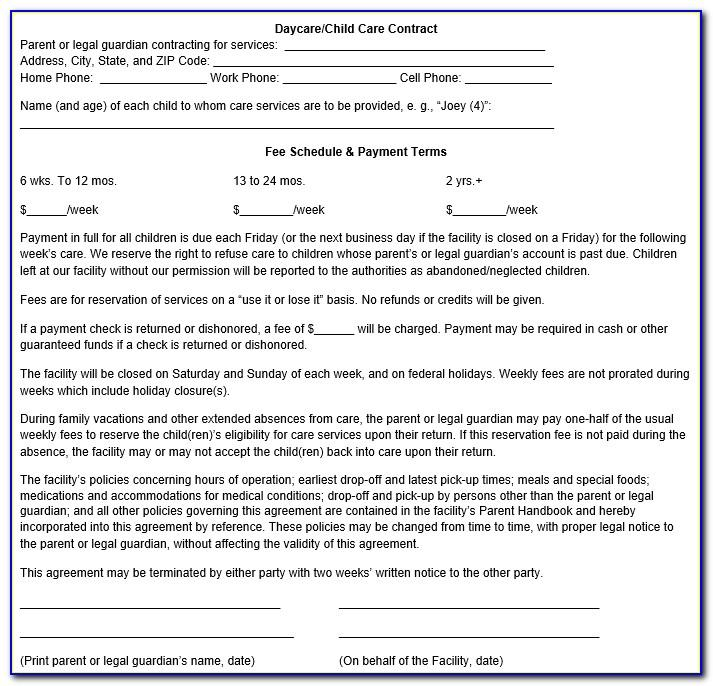Sample Child Custody Agreement Letter