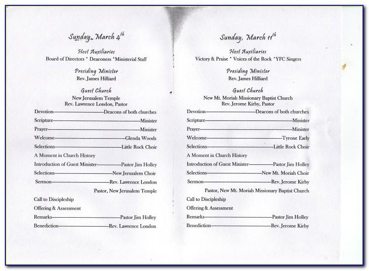 Sample Church Anniversary Program Template