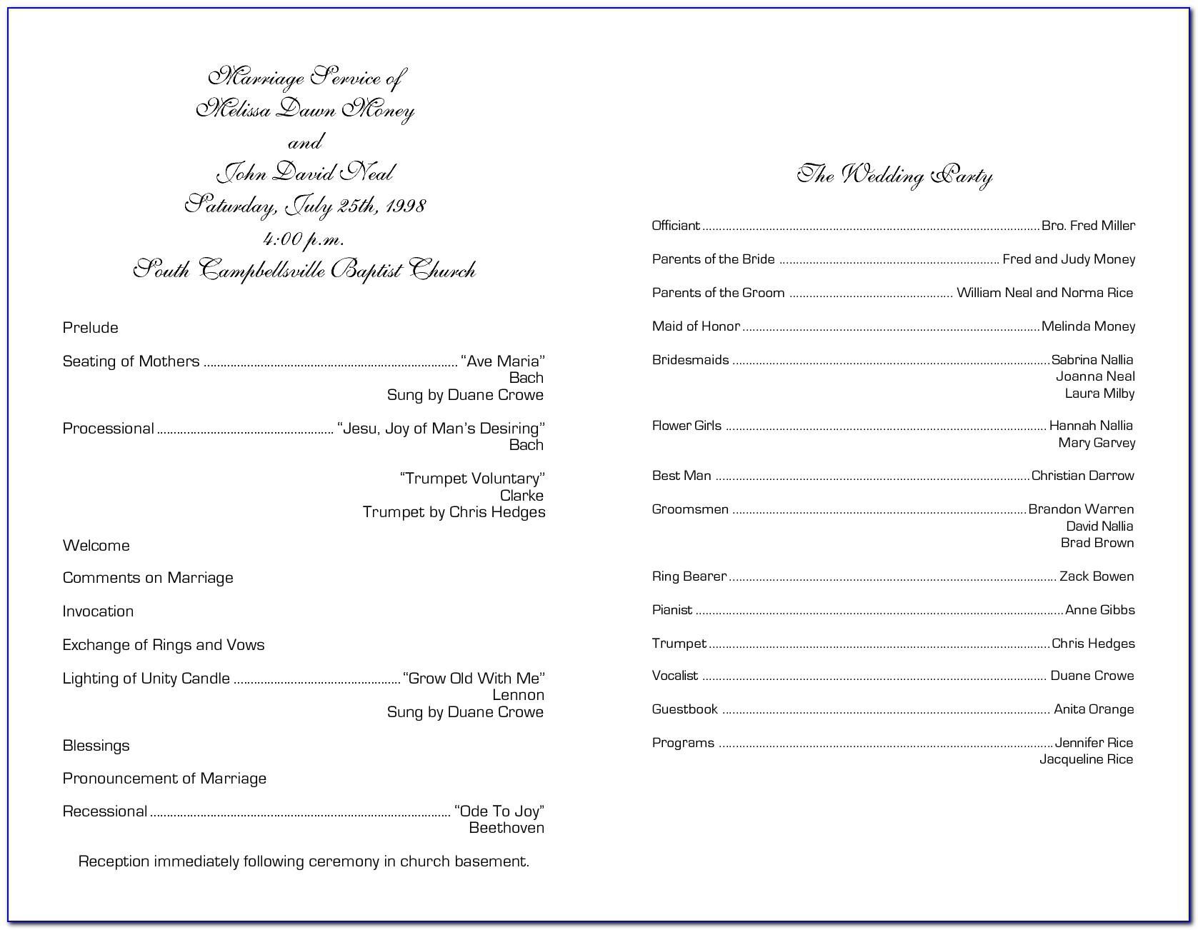 Sample Church Financial Statement Forms