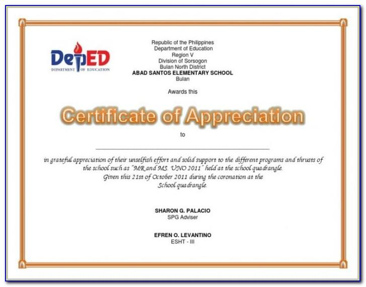 Sample Citation For Certificate Of Appreciation For Guest Speaker In Graduation