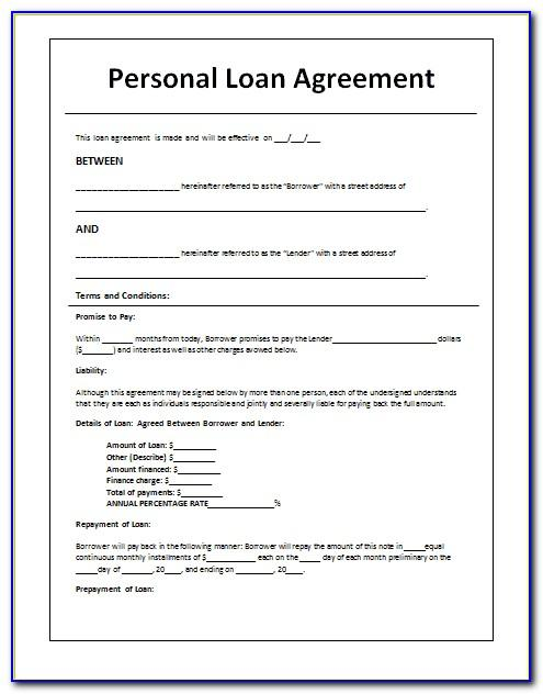 Sample Collateral Loan Agreement Template