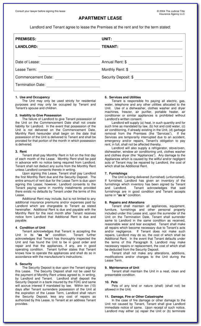 Sample Commercial Lease Agreement Ny