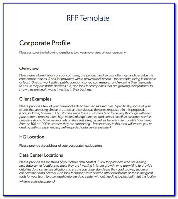 Sample Construction Rfp Templates