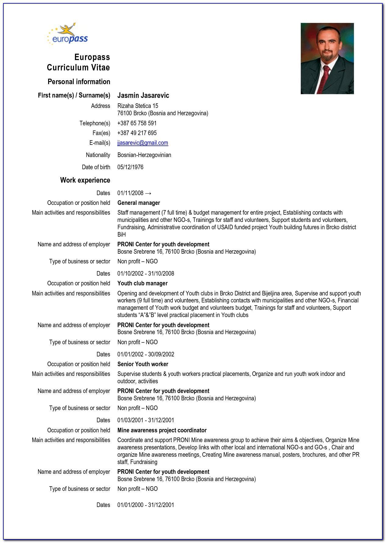 Sample Curriculum Vitae Fresh Graduate