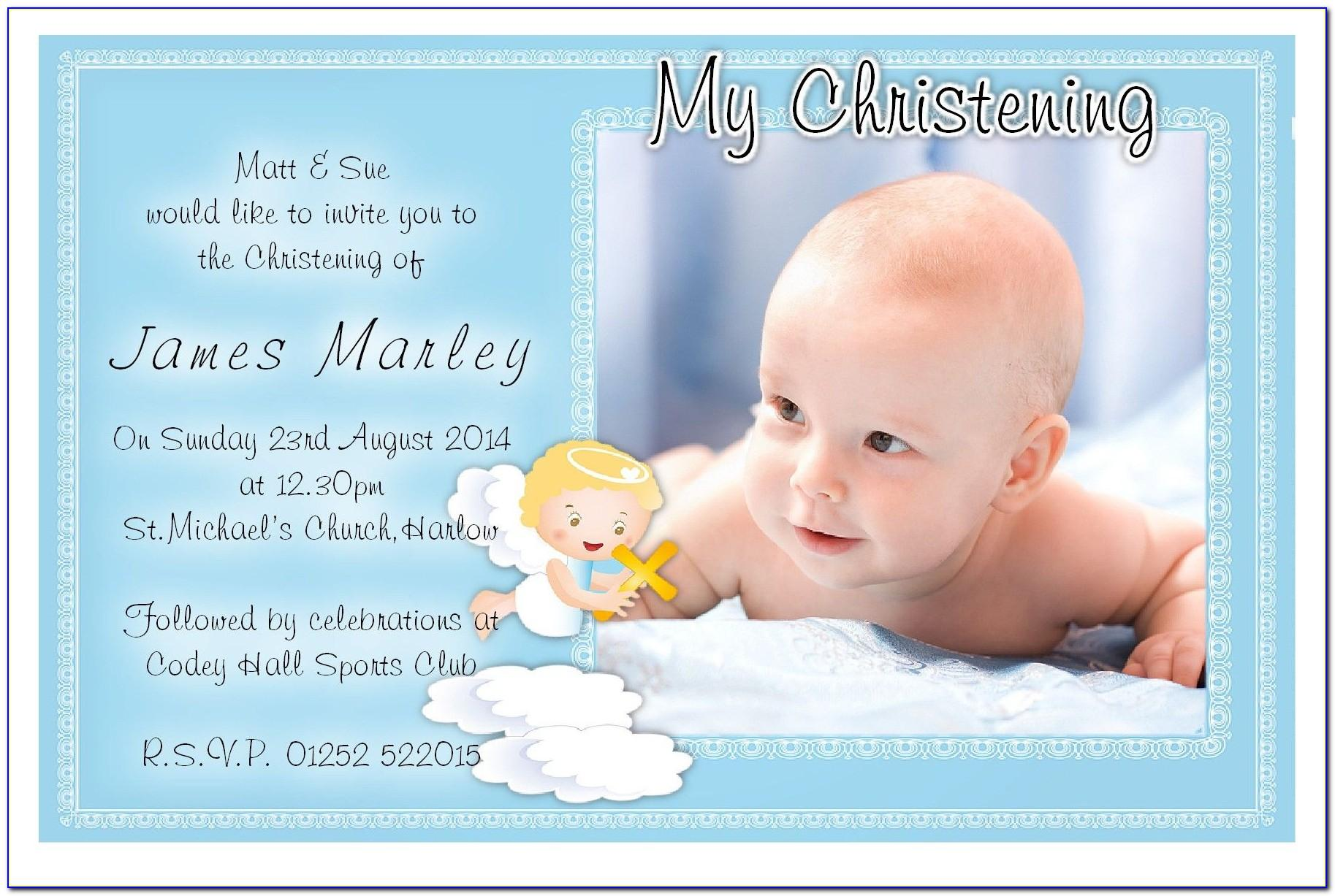 Sample Design For Baptismal Invitation