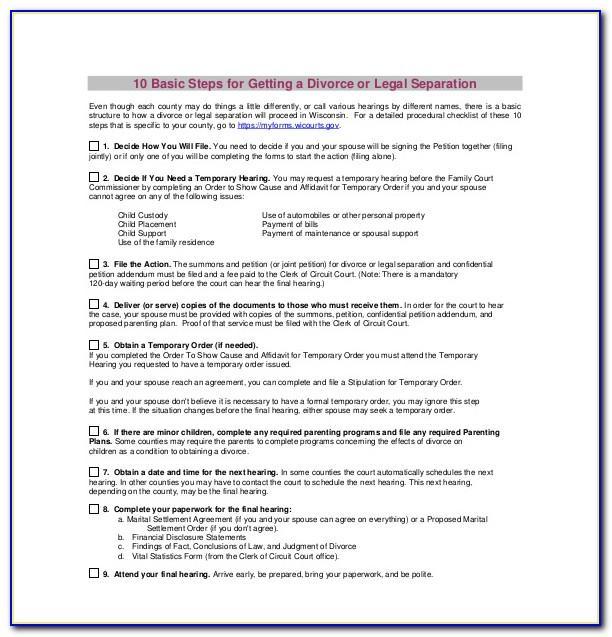 Sample Divorce Papers Texas