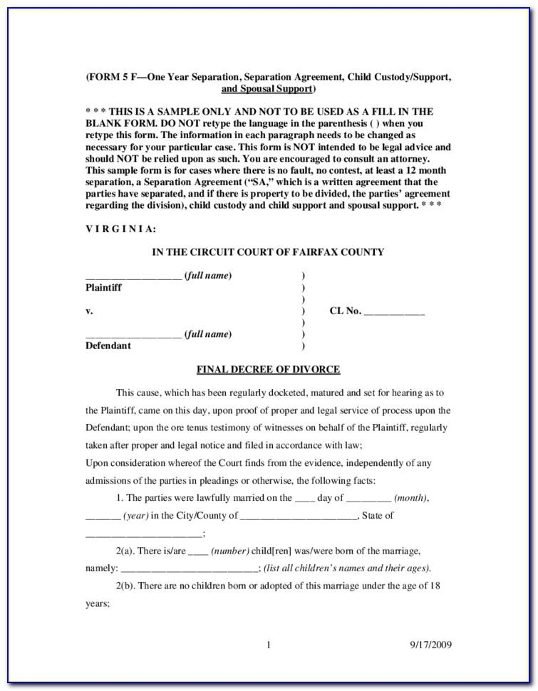 Sample Divorce Petition Template In India