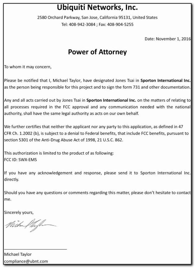 Sample Durable Power Of Attorney Document