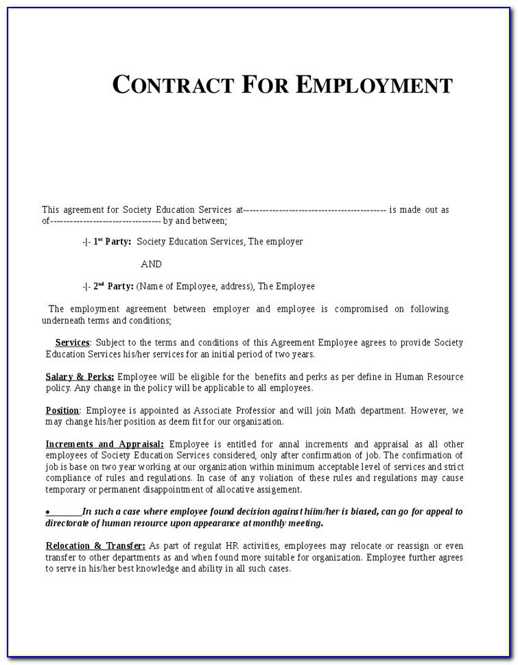 Sample Employment Contract Letter Malaysia