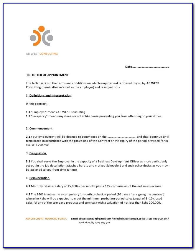 Sample Employment Contract Template Singapore