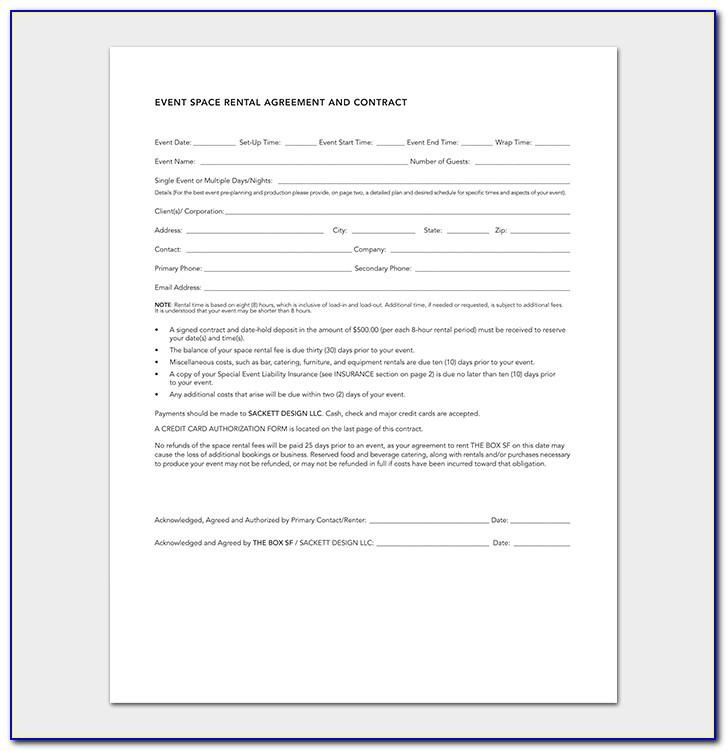 Sample Event Planner Contract Template