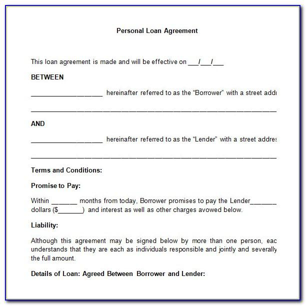 Sample Family Loan Agreement Template