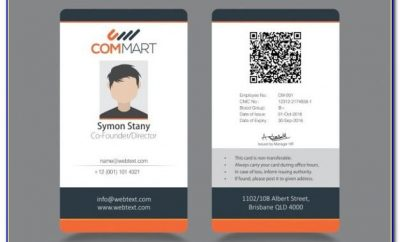 Sample Id Card Templates