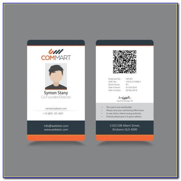Sample Id Card Templates