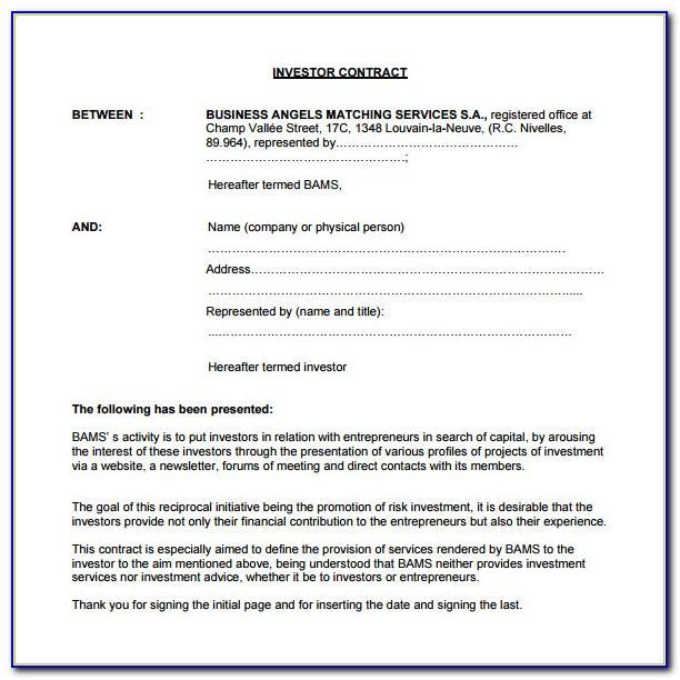 Sample Investor Proposal Template
