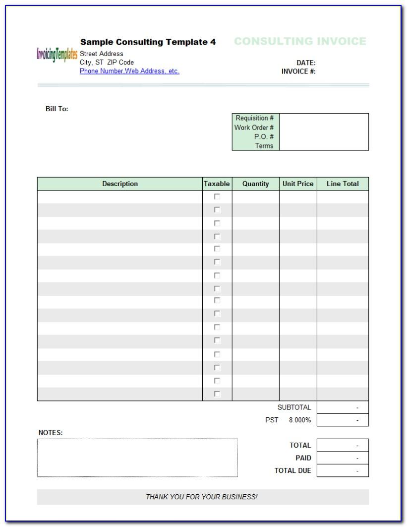 Sample Invoice Graphic Design Freelance