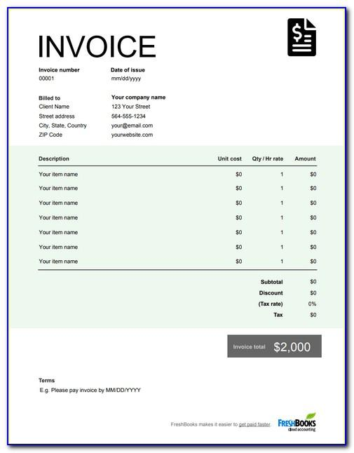 Sample Invoice Template Singapore
