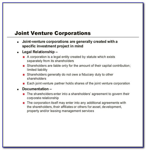 Sample Joint Venture Agreement Between Two Companies Pdf